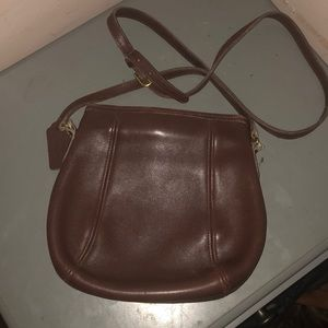 Coach vintage hinged purse brown leather 9990